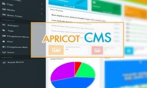 Menampilkan menu beserta sub-menu pada Apricot CMS menggunakan Bootstrap dan CSSmenumaker