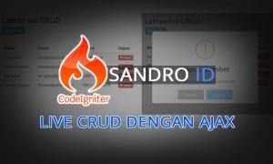 Panduan membuat Live CRUD dengan Codeigniter dan Ajax